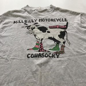 Vintage Hillbilly Motorcycle Cohasocky Tee Graphic